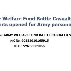 (NOT SPAM) Army Welfare Fund Battle Casualties