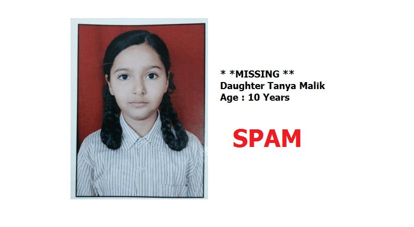 (SPAM) Missing Tanya Malik Since September 2016