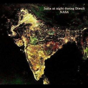 (SPAM) India at night during Diwali by NASA