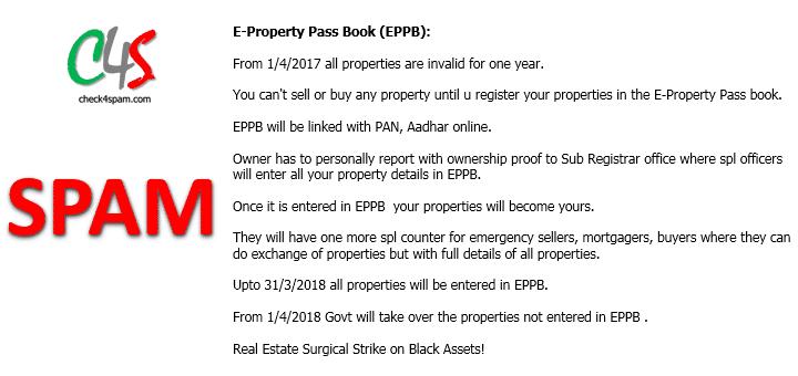 (SPAM) E-Property Pass Book (EPPB)