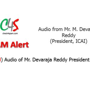 (SPAM) Audio of Mr. Devaraja Reddy President ICAI