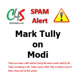 (SPAM) Mark Tully on Modi