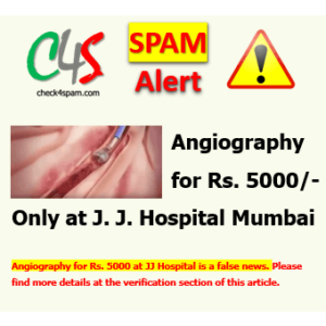 Angiography for Rs. 5000 at JJ Hospital Hoax