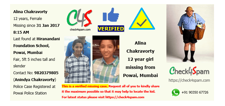 Alina Chakravorty missing