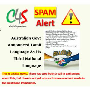 Tamil Third National Language Australia
