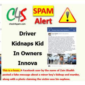 driver kidnaps kid innova