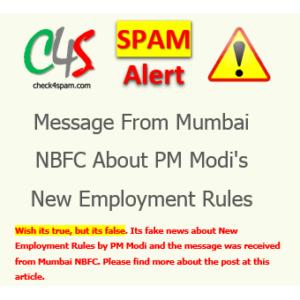 new employment rules modi spam