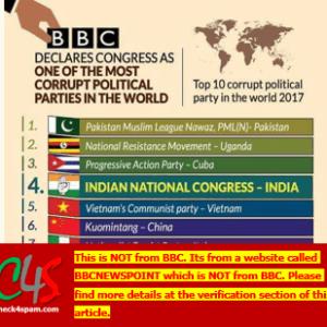 top 10 corrupt political parties world 2017 bbc hoax