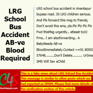 LRG School Bus Accident hoax