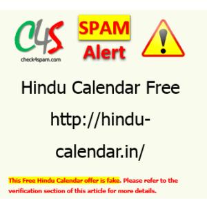 free hindu calendar hoax