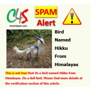 Bird named Hikku Himalayas spam