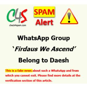 (SPAM) WhatsApp Group Firdaus We Ascend Belong to Daesh