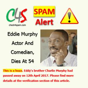 eddie murphy dies spam