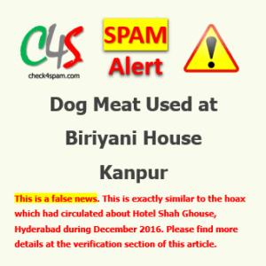 Dog Meat biriyani house kanpur spam