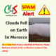 clouds fell earth morocco spam