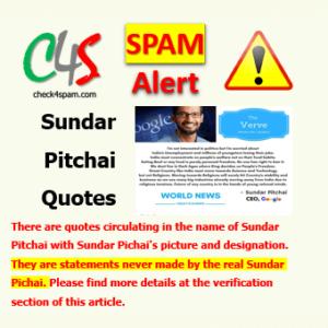 Sundar Pitchai Quotes spam
