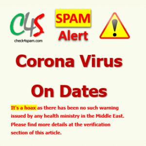 Corona virus Dates Spam
