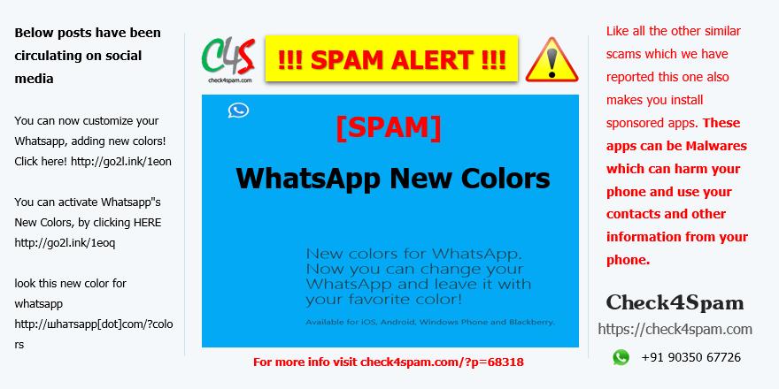 whatsapp new colors - SPAM