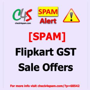 flipkart gst sale offers - SPAM