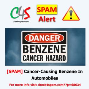 Cancer-Causing Benzene Automobiles - SPAM