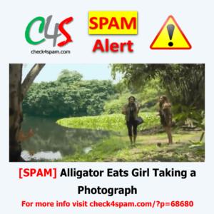 Alligator Eats Girl Taking Photograph - SPAM