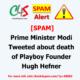 modi tweeted death playboy founder - SPAM