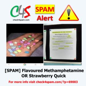 Flavored Methamphetamine strawberry quick - SPAM