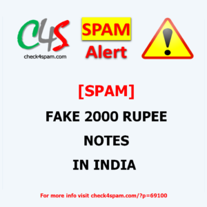 [SPAM] FAKE 2000 RUPEE NOTES IN INDIA