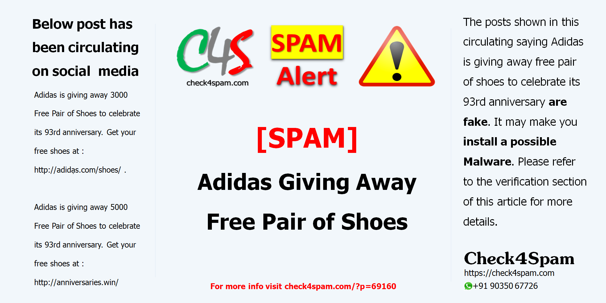 SPAM] Adidas Giving Away Free Pair of Shoes Check4Spam