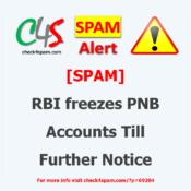 rbi freezes pnb accounts spam